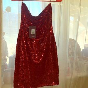 Red Sequin mini Dress (M)